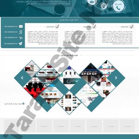 طراحی سایت شرکتی بلو دیزاین طراحی نو