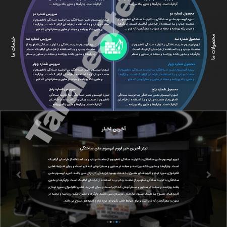 طراحی سایت شرکتی ارتباطات گستر