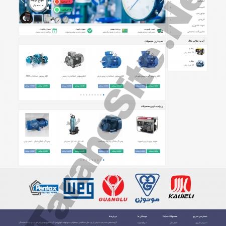طراحی سایت فروشگاهی ست پمپ